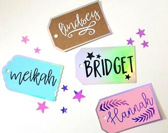 Custom Name Tag - Custom Gift Name Tags - Holographic Name Tags -