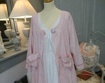 MANTEU FANTINE cotton romantic, Victorian, chabby chic, Bohemian, hippie Gypsy