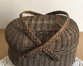 Arm basket natural Wicker
