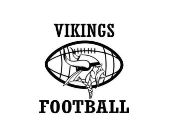 Vikings Football high school college SVG File Cutting, DXF, EPS design, cutting files for Silhouette Studio and Cricut Design space