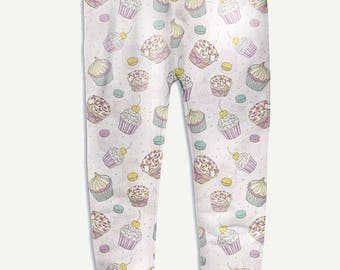 Sweet Jogger Pants For Womens Gift For Her Cupcakes Print Diet Joggers