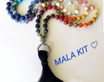 7 Chakra Rainbow Mala Kit ~ Make your own Mala Necklace ~ Balancing ~ Create my Yoga Mala
