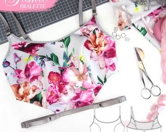 DIGITAL Lingerie Sewing Pattern - The Jamie Bra - Evie la Luve