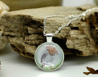 Robin, Bird Necklace, Wildlife Jewellery, Nature Lover Gift, Handmade Jewelry, Silver Necklace, Small Pendant Necklace, Gifts for Her