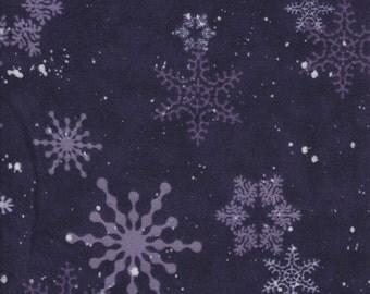 Creature Comforts FLANNEL - Per Yd - Clothworks - Barb Tourtillotte - Dark Purple