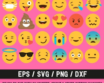 Emoji svg,Emoji collection svg,Emoji clip art,Emoji kit,Emoji set svg,Emoji png,Emoji dxf,Emoji Bun,Emoji Silhouette,Cameo,Emoji cut file