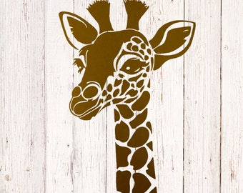 Giraffe Decal, Giraffe Stickers, Custom Monogram Decals, Car Decals for Women, Giraffe Mug, Giraffe Decor, Yeti Cup Decal