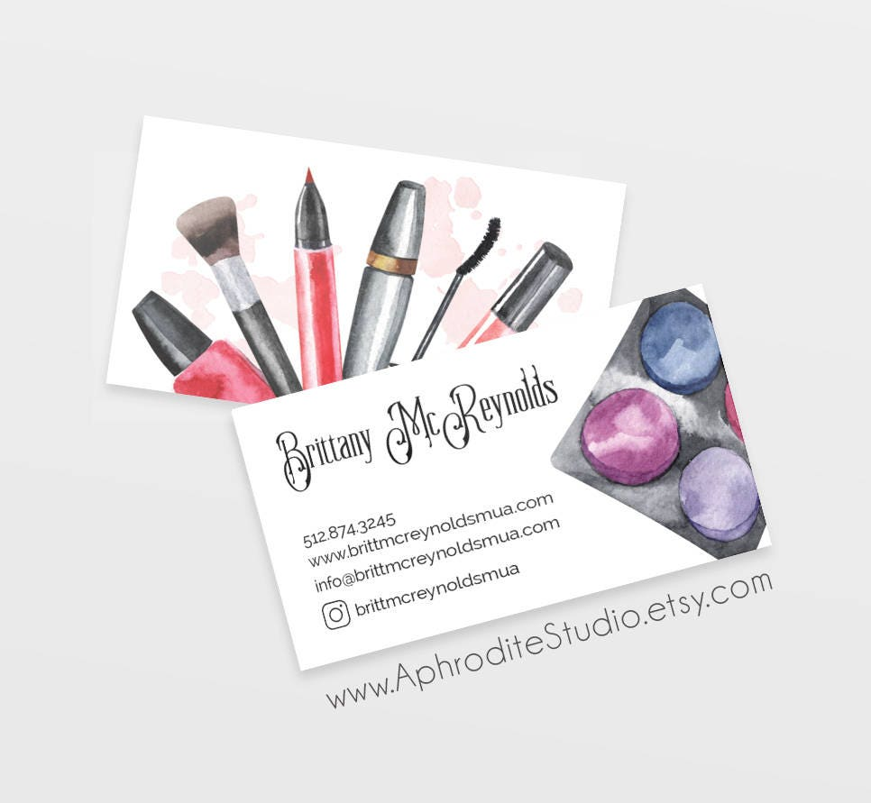 Make up artist business cards beautician business cards make up artist business cards beautician business cards printable business cards beauty salon colourmoves