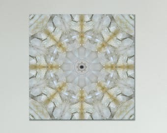 White Quartz Cluster print on canvas ~ Crystal wall art for Healing and Meditation ~ Nature Photography ~ Sacred Geometry ~ Spiritual Art