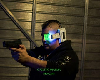 Atrox Cyberpunk Power Scanner Mask with LEDs