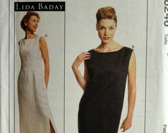 Uncut 1990s McCall's Vintage Sewing Pattern 8246, Size 6; Misses' Lined Dresses