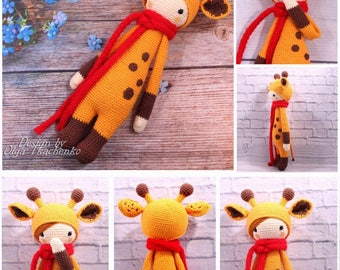 35% SALE Amigurumi Doll Lalylala toy newborn Doll Eco Friendly Toy Cuddle Doll Toy Baby Shower Gift Nursery Decor Giraffe toy first plush