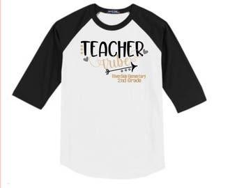Teacher Tribe Shirt, Personalized Teacher Shirt, Teacher School Shirt, Teacher Tee, Teacher T Shirt, Gift for Teacher, Teacher Team Shirt