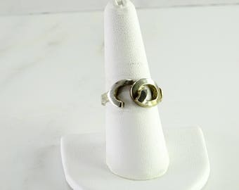 Sterling / 14 Kt Gold Accent Ring Size 8