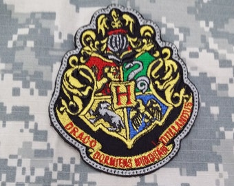 Hogwarts and Houses Crest Hook and Loop Military/Morale Patches!