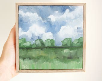 Original Landscape Painting, Landscape Oil Painting, Small Landscape, Small Oil Painting, Landscape Painting, Country Landscape Painting