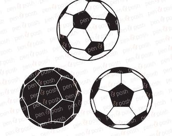 Soccer Ball SVG -  Soccer Ball DXF - Soccer Ball Clipart - Soccer Ball Cricut and Silhouette Cut Files - Soccer SVG - Soccer