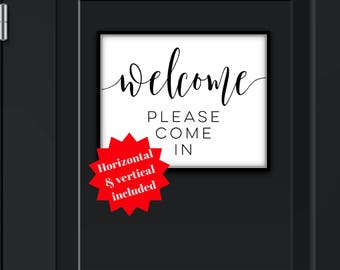 Welcome Please Come In, DOWNLOAD, Please Come In Door Sign, Please Come In, Please Come In Sign, Come In Door Sign, Come In Sign, Come In