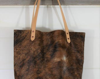 Cowhide + Leather Tote
