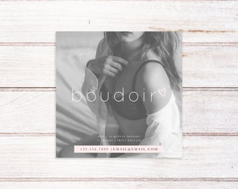 Boudoir Session Template, Boudoir Template, Photography Marketing Template, Boudoir Photography, Boudoir Mini Session Template, Square