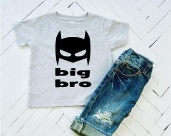 Big Bro, Superhero Brother, Big Brother, Toddler Tee, Baby Announcement, Big Brother Tshirts, Big Brother Clothes, Comic Book Heros, Batman