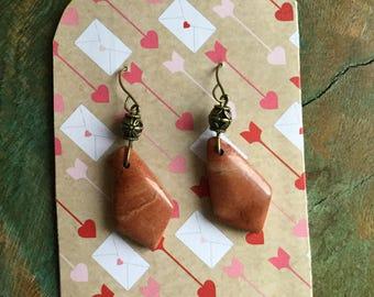 Beautiful Succor Creek  jasper stone earrings
