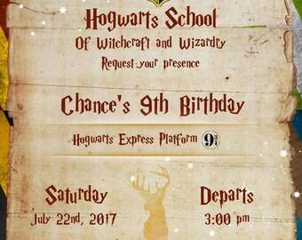 Harry Potter, Hog warts Express Invitation, Digital File