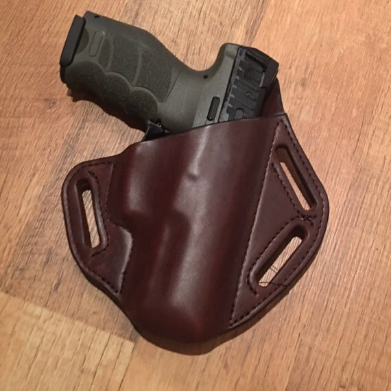 Leather Holster, custom crafted premium leather H&K VP9 Holster, EDC, OWB