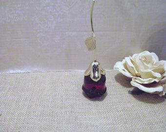 Rose Perfume Bottle  - Vintage Avon Bottle, Avon Moonwind Perfume, Moonwind Perfume, Red Rose Bottle, Vintage Perfume Bottle