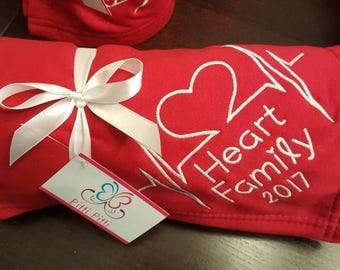 CHD personalised Blanket- Heart Warrior Blanket