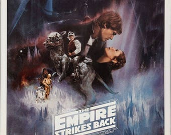 The Empire Strikes Back - Star Wars Movie Poster A3 or A4 Matt