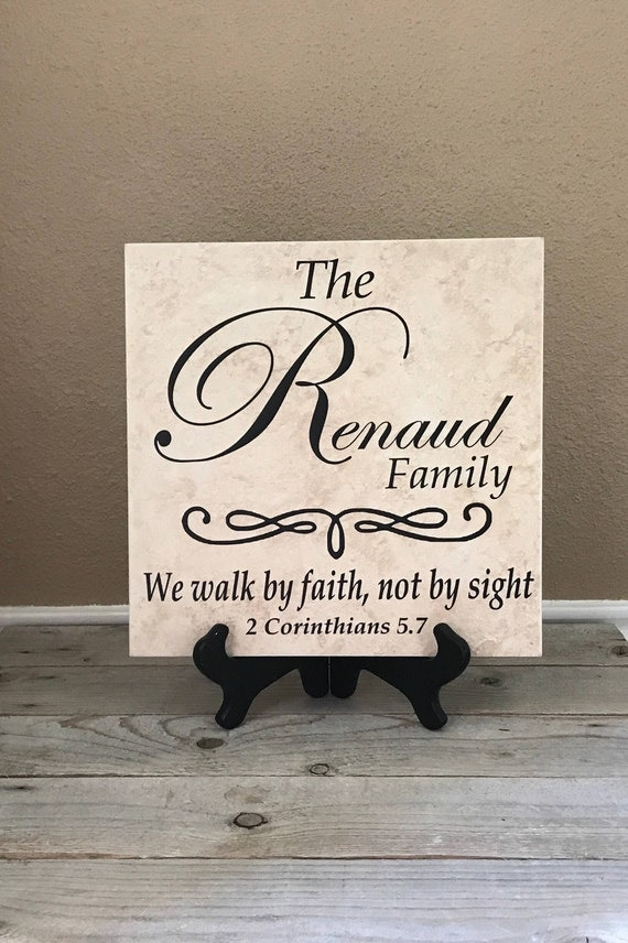 Personalized Family Sign Name Tile Family Gift Wedding