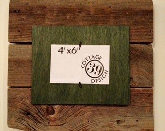 Barnwood Layered Picture Frame for one 4x6 Photo