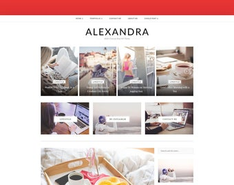 Alexandra - A WordPress Blog Theme - WordPress Theme - WordPress Blog Theme - WordPress Template - WordPress Responsive - WordPress Blog