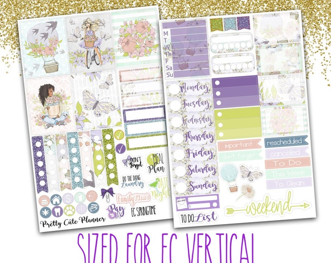 Springtime planner Stickers - Planner stickers - Fits Erin Condren Life Planner - Springtime Stickers - Spring Stickers - Floral stickers