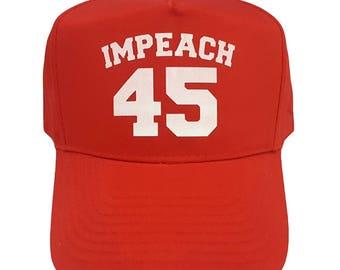 Impeach 45 Red Baseball Cap