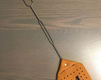 Personalized Monogrammed Leather Fly Swatter