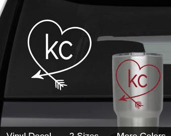KC Decal, KC Royals Decal, KC Chiefs Decal, Kansas City Glitter Car Decal, kc Yeti Decal, kc royals yeti, kc chiefs yeti, kc wine glass