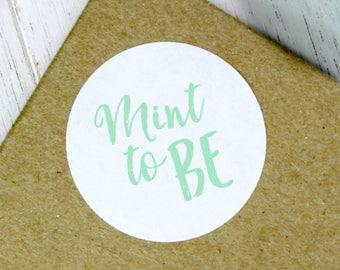 Mint Wedding Stickers, Mint to Be, Mint Favors, Wedding Stickers, Mint Wedding, Mint to Be Stickers, Wedding Mints, Mint Favor (11-0001-045)
