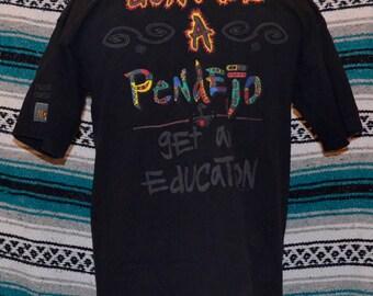 90's Mojado Brothers Shirt Don't be a Pendejo Paul Rodriguez Black XL 100% Cotton