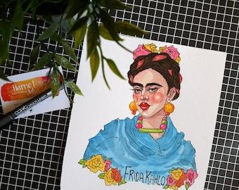 SALE / Frida Kahlo / ORIGINAL Artwork
