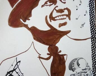 drawing of Frank sinatra