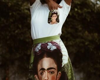 Frida Kahlo Pocket Tee Shirt, Frida Kahlo, Frida Tee, Art Clothes, Cotton t-shirt, Printed t-shirt, Women's t-shirt,All size, 90s,Pocket Tee