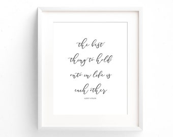 Audrey Hepburn Quote - Famous Quote - Typography Print - Minimal Print - Gifts Under 20 - Anniversary Gift - Art Print - Home Decor