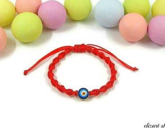 Evil eye baby bracelet, baby protection bracelet, red bracelet baby, infant bracelet, toddler bracelet, newborn bracelet, baby boy bracelet