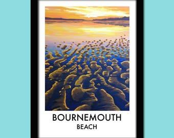 Bournemouth Beach Travel Poster