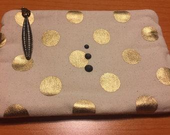 Polka dot and slate bag