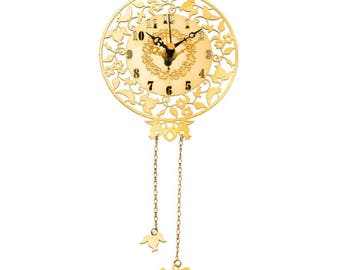 Passover Gift - Pesach - Wall Clock - Jewish Inspired Gift - Bar Bat Mitzvah Dove & Pomegranate Intricate Blessing Peace Timepiece Hanukkah