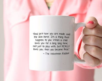 surprising inspiration awesome mugs. Velveteen Rabbit Mug  Easter Margery Williams Literature Book Quote Message mug Etsy