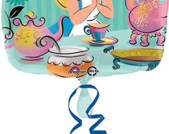 """17"""" Alice in Wonderland Balloon, Mad hatters tea Party balloon"""